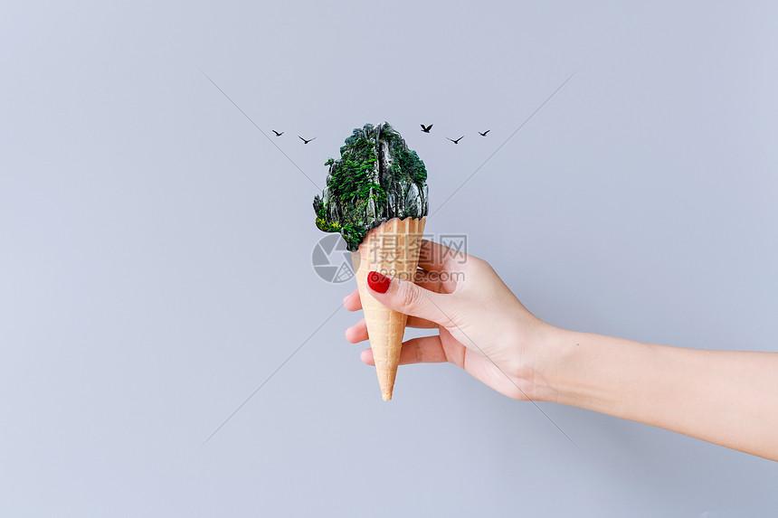 山峰冰淇淋图片