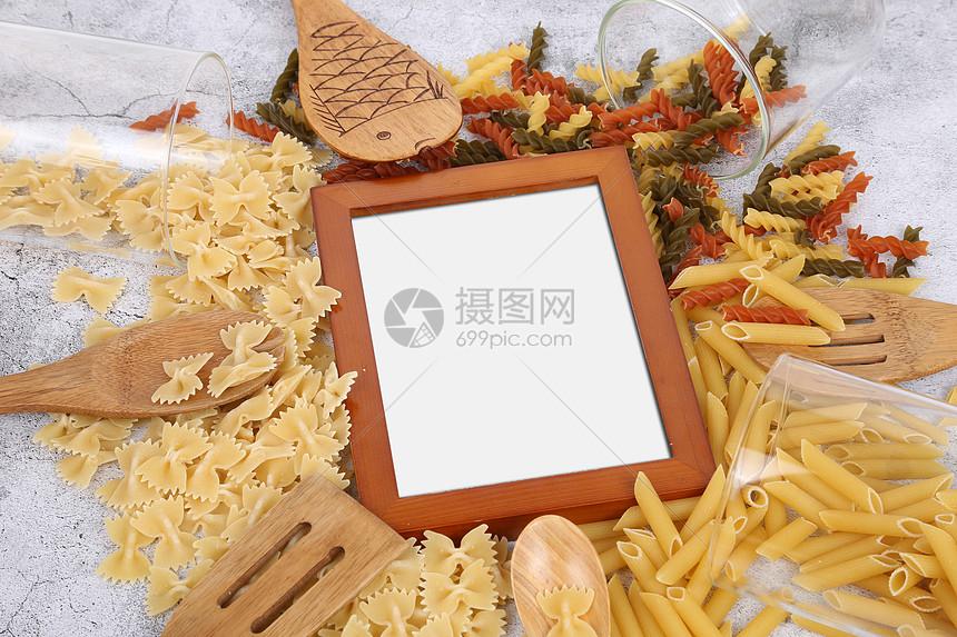 食物背景空白相框图片