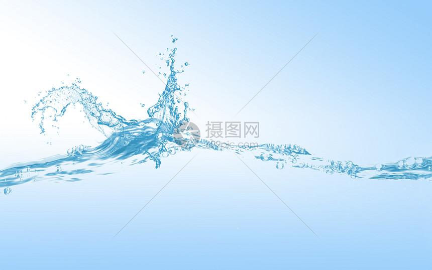 创意水波场景图片