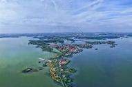 俯瞰武汉东湖绿道图片