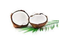 切开的椰子图片