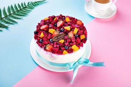 奶油水果蛋糕图片