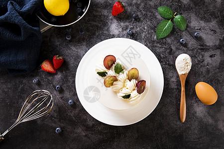 水果奶油蛋糕图片