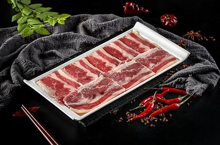 火锅食材之牛肉片图片
