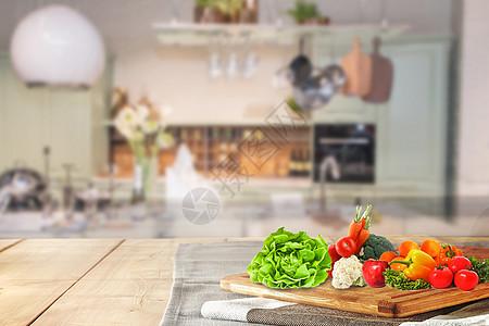 厨房美味背景图片