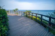 美丽的栈道和海景图片