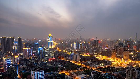 夜晚的武汉城市风景图片