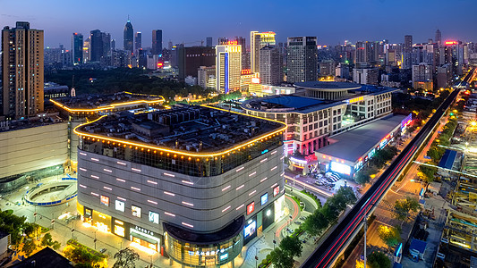 武汉国际广场商圈夜景图片