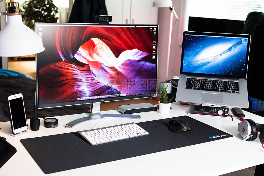 工作中的电脑图片