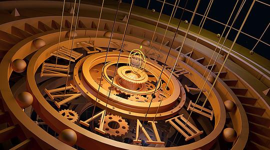 科幻时钟背景图片