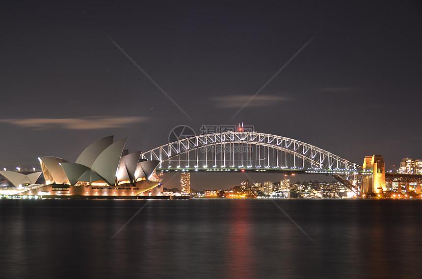 悉尼歌剧院夜景图片