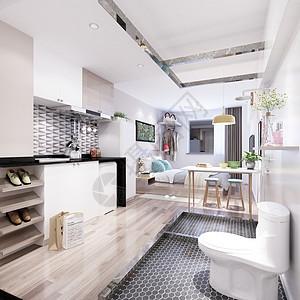 现代小公寓效果图图片