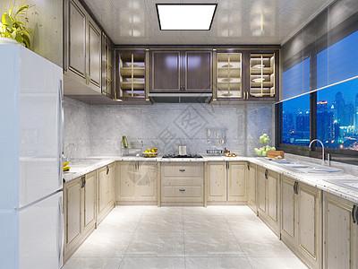 现代厨房效果图图片