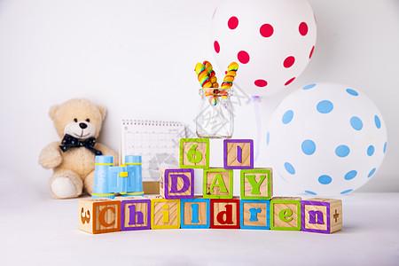 六一儿童节玩具创意摆拍图片