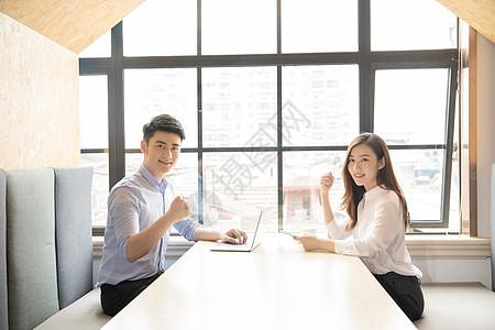 商务人像咖啡馆形象展示图片