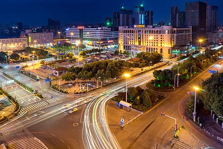 汉口火车站前广场夜景图片
