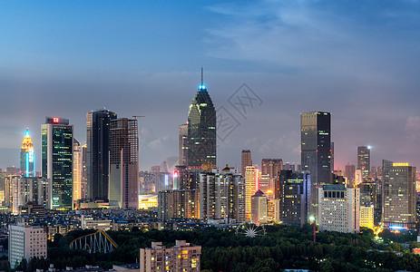 远眺武汉金融区图片
