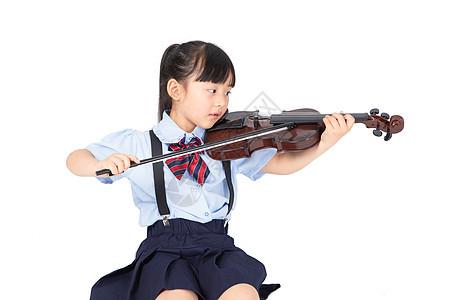 拉小提琴的小女生图片