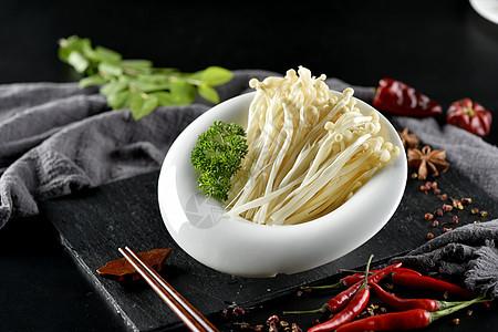 一碗金针菇图片