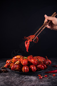 夏季美食小龙虾图片