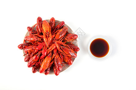 小龙虾白色背景图片