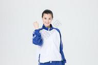 青年女性学生校服形象图片