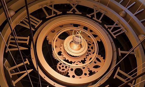 炫酷科幻时钟背景图片