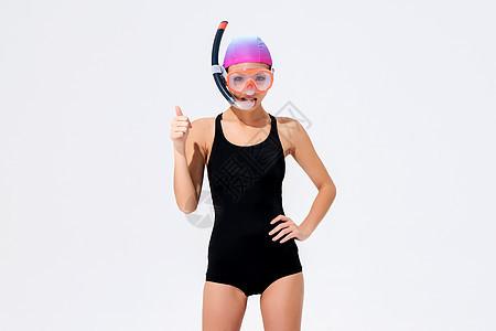 女子潜水服装展示图片