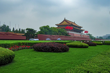 北京天安门广场侧影图片