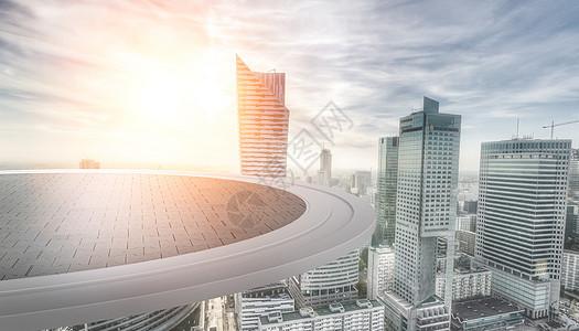 城市风光道路平台图片