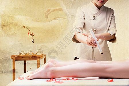 中医艾灸养生图片
