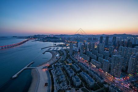 大连星海湾夜景图片