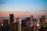 成都市市中心夜景图片