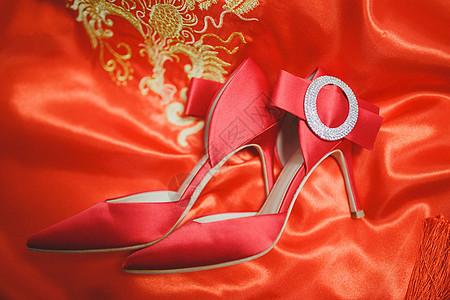 新娘婚礼红色高跟鞋图片