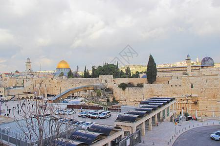 以色列耶路撒冷老城哭墙图片