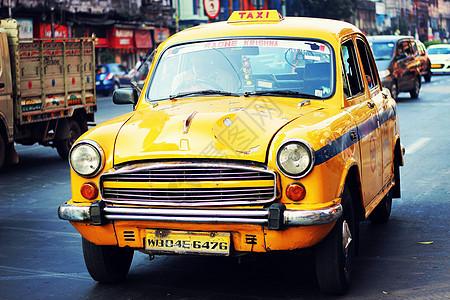老式出租车图片