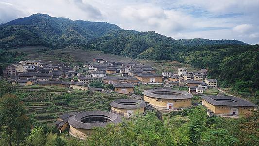 福州永定土楼群图片