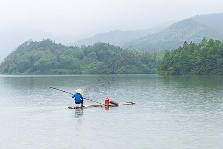 安徽石台秋浦河风光钓鱼垂钓图片