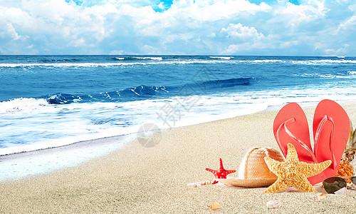 夏日沙滩图片