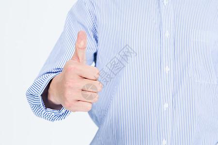 大拇指点赞特写图片