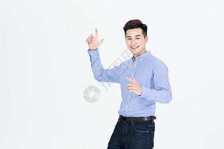 商务男性胜利开心欢呼状态图片