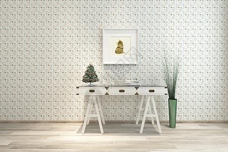 北欧圣诞装饰风格室内家居图片