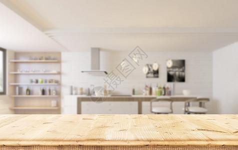 厨房桌面背景海报图片