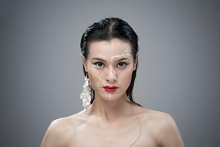 女性创意美妆妆容人像图片