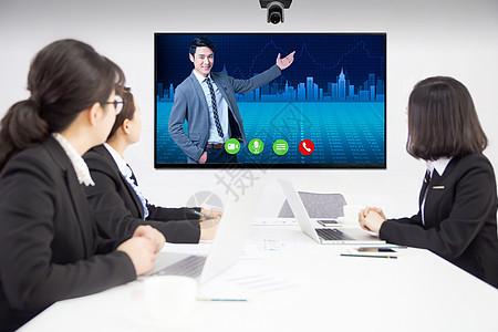 电话会议图片