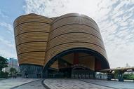 蓝天白云下的武汉万达电影乐园图片