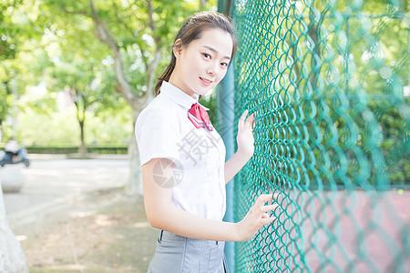 校园小清新少女女生写真图片