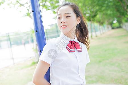 校园学院风少女小清新写真图片