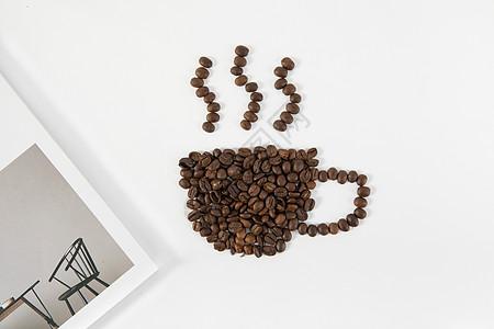 咖啡豆摆拍图片