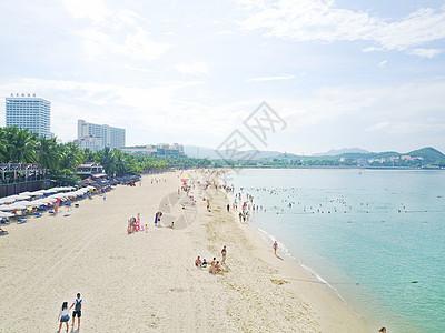 海南三亚大东海浴场沙滩图片
